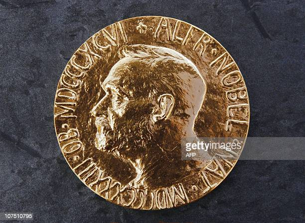 A photo taken 08 October 2004 in Oslo shows the Nobel Peace Prize medalAFP PHOTO SCANPIX GUNNAR LIER