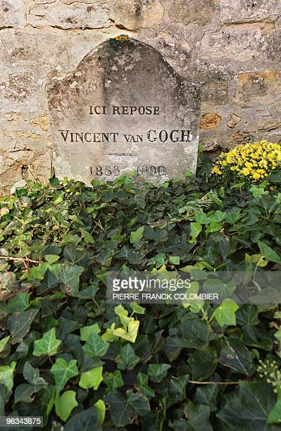 Photo taken 12 October 2002 in AuverssurOise a small village north of Paris of the gravestone where Vincent Van Gogh lies Vincent Van Gogh moved in...