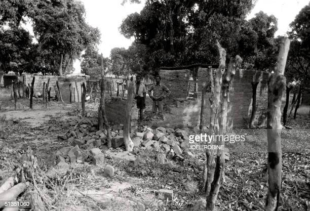Photo taken 14 December 1984 in Nadili, a Chadian village burned by FANT troops of Chad president Hissene Habre during a scorched-earth offensive...