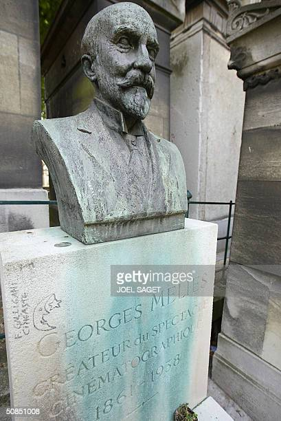 A photo taken 14 May 2004 of French Georges Melies' gravestone at Pere Lachaise Cemetery in Paris Pere Lachaise is the largest cemetery in Paris and...