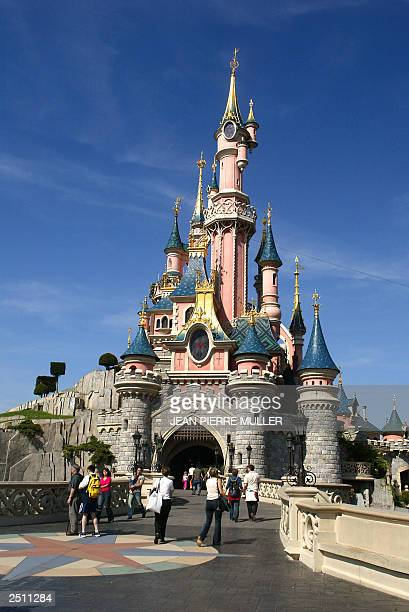Photo taken 16 September 2003 of the Sleeping Beauty Castle at the Disneyland resort of Paris in Marne La Vallee
