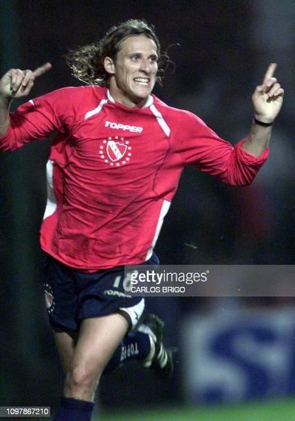 A photo taken 17 October 2001 in Buenos Aires of Argentinian soccer player Diego Forlan Fotografia tomada el 17 de octubre de 2001 en Buenos Aires...