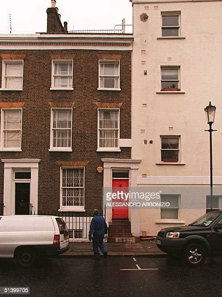 Photo taken 21 October 1999 shows a home in the trendy Portobello Road area of London where the reported illegitimate daughter of Albert II of...