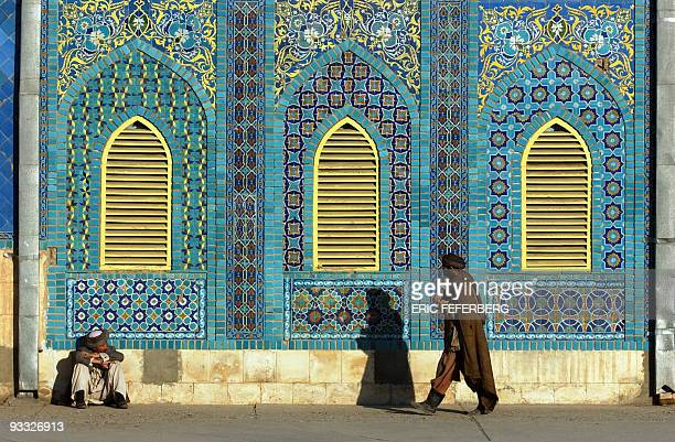 Photo taken 29 January 2002 of the blue mosque of MazareSharif AFP PHOTO ERIC FEFERBERG
