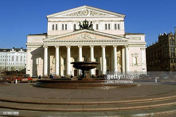 Photo taken 31 March 2000 shows a general view of the Bolshoi Theatre which is situated near Moscow's Red Square The temple of Russian opera and...