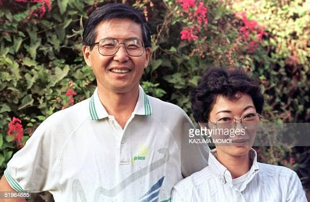 Photo taken April 1990 shows Peruvian president Alberto Fujimori with his ex wife Susana Higuchi En esta foto de archivo de abril de 1990 aparecen el...