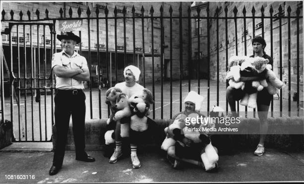 Photo taken at Parramatta JailPrisoners make hundreds of soft toys to give to kids for ChristmasPrison officer Ray Anderson with inmates Donald...