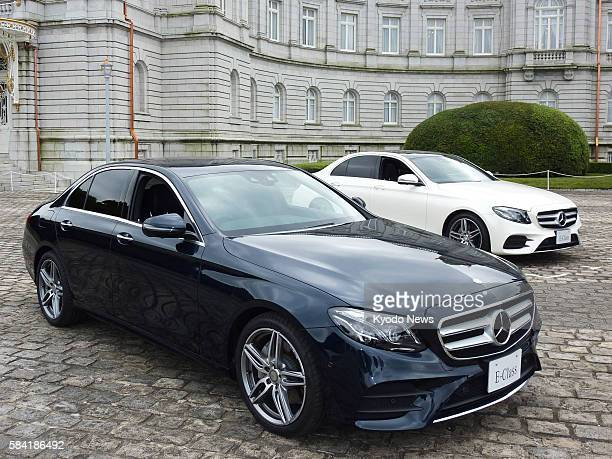 Photo taken at the state guest house in Tokyo shows the new EClass model of MercedesBenz launched by MercedesBenz Japan on July 27 2016 It is the...