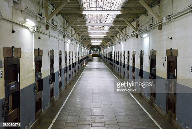 Photo taken Aug 1 shows inside the Nara Juvenile Prison built in 1908 in Japan's Meiji era The prison made of bricks may be turned into a hotel as...