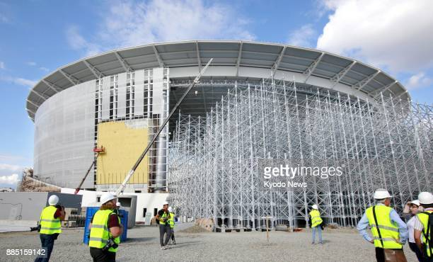 Photo taken Aug 19 shows Ekaterinburg Arena in Ekaterinburg Russia one of the venues for the 2018 soccer World Cup finals ==Kyodo