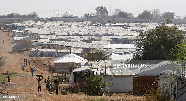 Photo taken Dec 12 shows a refugee camp within a facility for the UN peacekeeping operations in Juba where Japanese troops are deployed The troops...