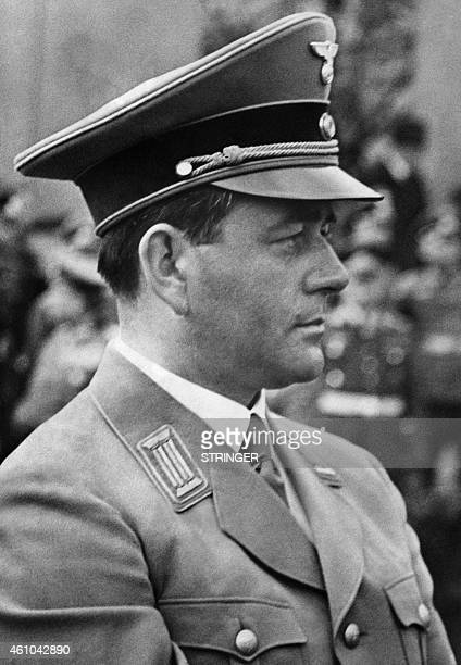 Photo taken during World War II shows German architect Albert Speer Appointed in 1933 by Adolf Hitler as builder of the Third Reich designing the...