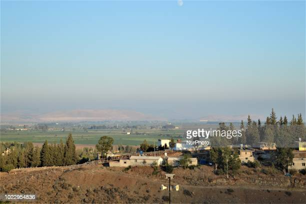 A photo taken from a cemetery shows the SyriaTurkey border in southern Hatay province of Turkey on August 23 2018