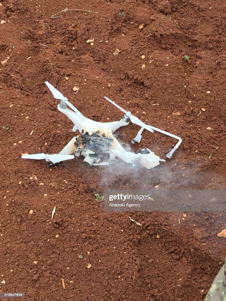 استراتيجية مواجهة التفوق الجوي – الاستراتيجية العسكرية Photo-taken-from-syrias-afrin-region-shows-the-destroyed-unmanned-picture-id919847958