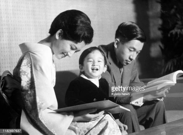 Photo taken in 1962 shows a young Prince Hiro now Japanese Crown Prince Naruhito with his parents Crown Prince Akihito the current emperor and Crown...