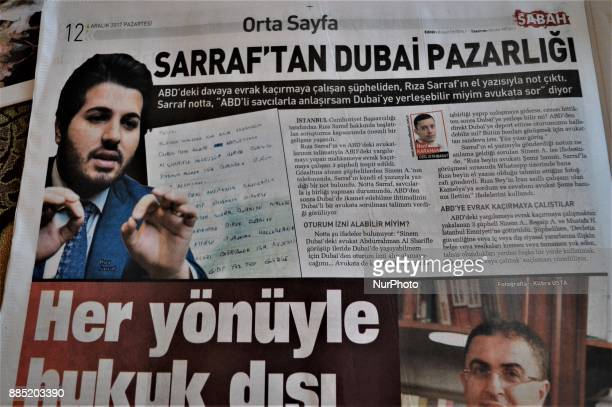 A photo taken in Ankara Turkey on December 4 2017 shows that Sabah a Turkish progovernment daily newspaper reveals handwritten notes allegedly...