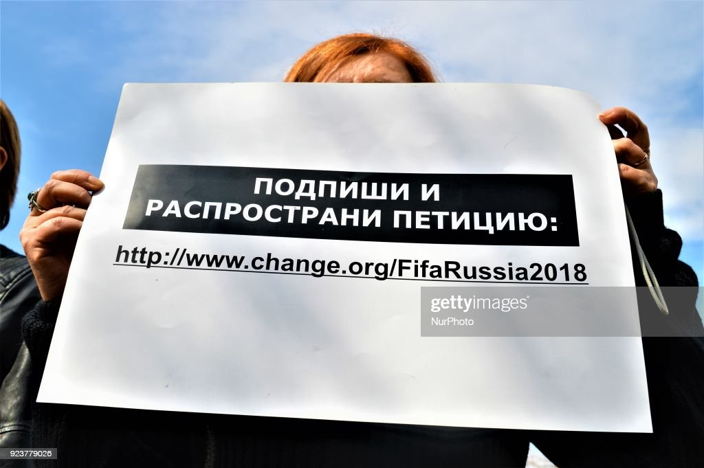 Activists Protest in Ankara Against FIFA for Killing Stray Animals in Russia