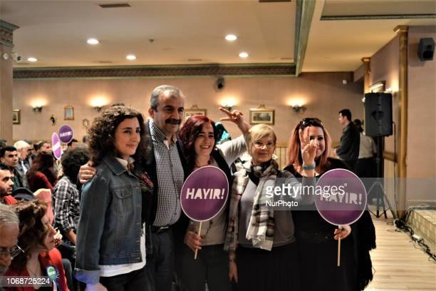 A photo taken in Ankara Turkey on March 13 2017 shows former deputy of the proKurdish opposition Peoples' Democratic Party Sirri Sureyya Onder taking...