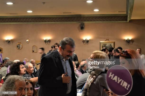 A photo taken in Ankara Turkey on March 13 2017 shows former deputy of the proKurdish opposition Peoples' Democratic Party Sirri Sureyya Onder...