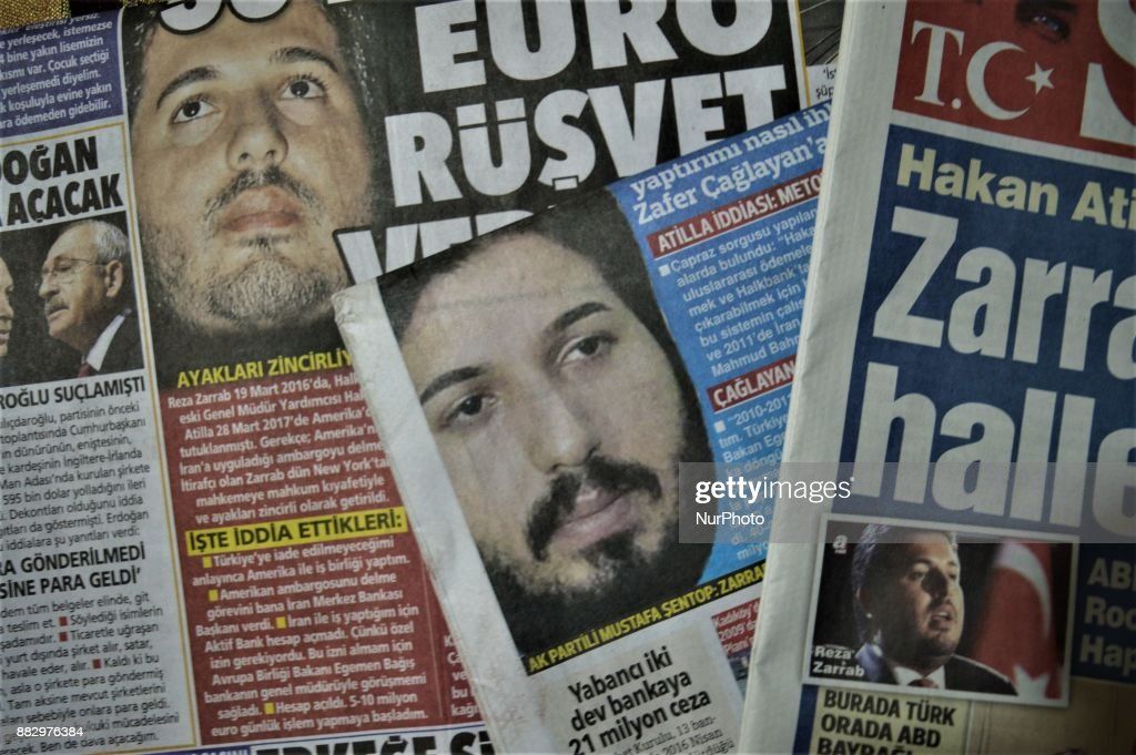 Turkish Newspapers React After Reza Zarrab Took Stand in Trial : News Photo