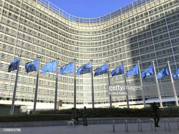 Photo taken in June 2019 shows the European Commission headquarters building in Brussels Belgium