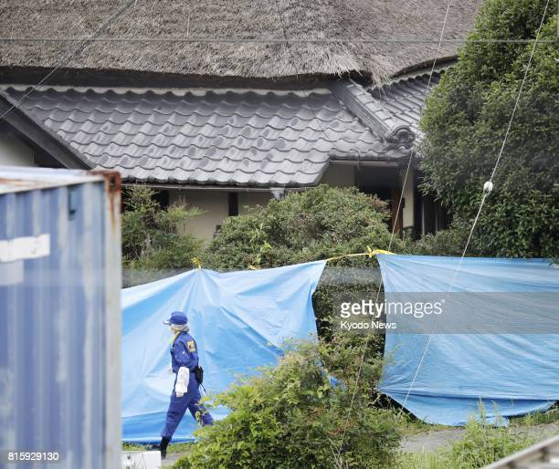 Photo taken in Kobe on July 17 shows the house of Kanami Takeshima a 26yearold man who was arrested the previous day for possessing a knife and the...