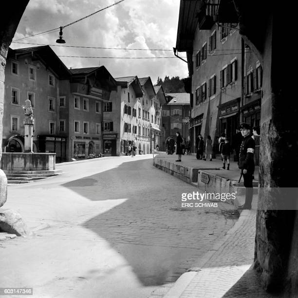 Photo taken in May 1945 shows a view of Berchtesgaden Bavaria near which takes place the Berghof Hitler's home Rebuilt much expanded and renamed in...