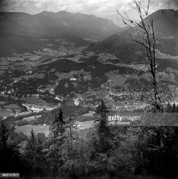 Photo taken in May 1945 shows a view of Berchtesgaden from the Berghof Adolf Hitler's home Rebuilt much expanded and renamed in 1935 the Berghof was...