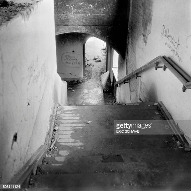 Photo taken in May 1945 shows an internal view of the Berghof Adolf Hitler's home in the Obersalzberg of the Bavarian Alps near Berchtesgaden Bavaria...