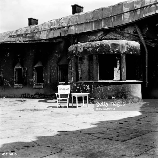 Photo taken in May 1945 shows external view of the Berghof Adolf Hitler's home near Berchtesgaden Bavaria Rebuilt much expanded and renamed in 1935...