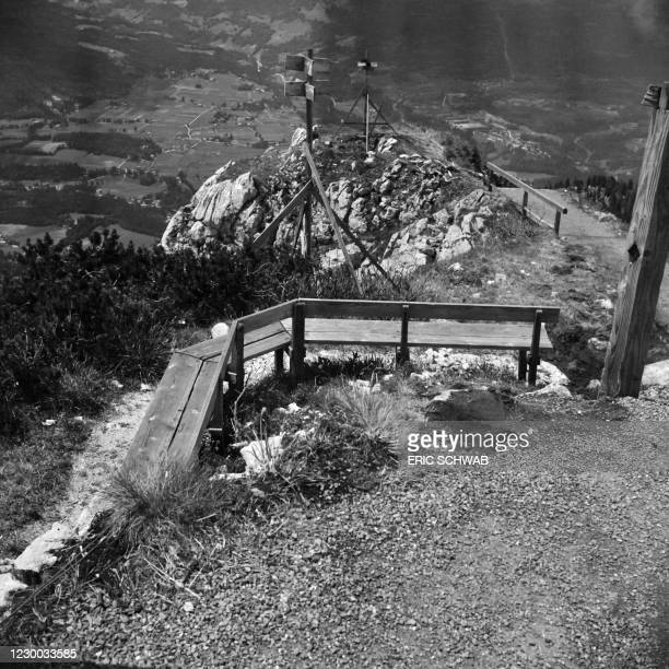 Photo taken in May 1945 shows the Berghof, Adolf Hitler's home, in the Obersalzberg of the Bavarian Alps near Berchtesgaden, Bavaria, during the...