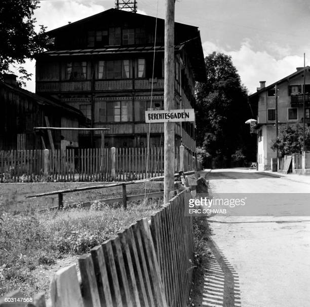Photo taken in May 1945 shows the entrance of Berchtesgaden Bavaria near which takes place the Berghof Hitler's home Rebuilt much expanded and...