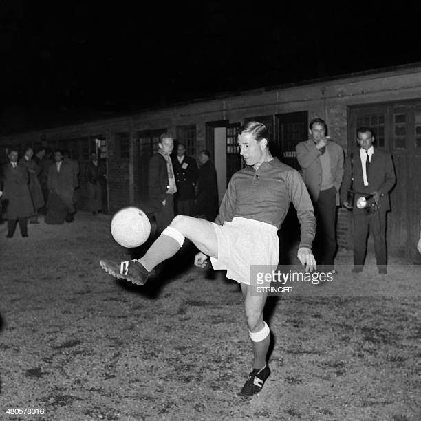 Photo taken in May 1958 shows French footballer Raymond Kopa in action. AFP PHOTO