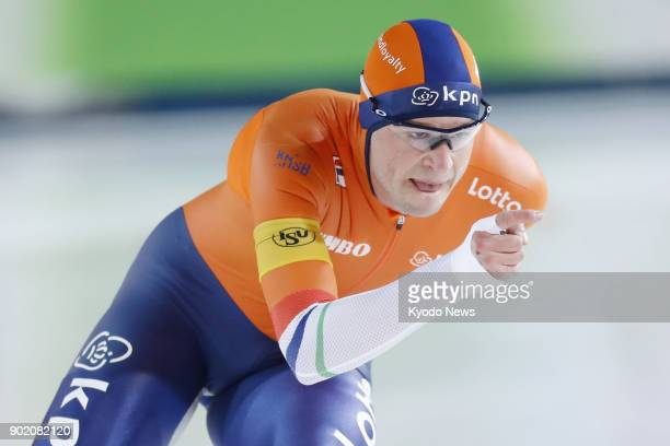 Photo taken in November 2017 shows the Netherlands' Sven Kramer who won the men's 10000 meters at the speed skating World Cup in Stavanger Norway...