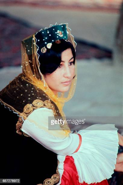 Photo taken in October 1971 in Isfahan shows Iranian woman wearing traditional clothes