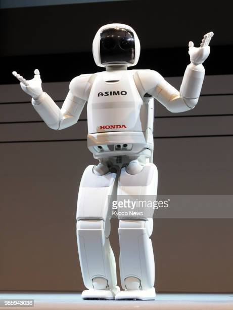 Photo taken in October 2008 shows Honda Motor Co.'s ASIMO humanoid robot. The company said June 28 that it is developing a successor to the robot for...