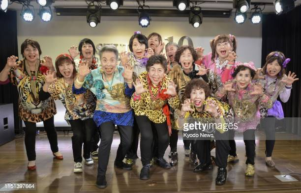 Photo taken in Osaka on June 21 shows an Osakabased idol group made of women in their 50s and 60s who have released a rapstyle music video in English...
