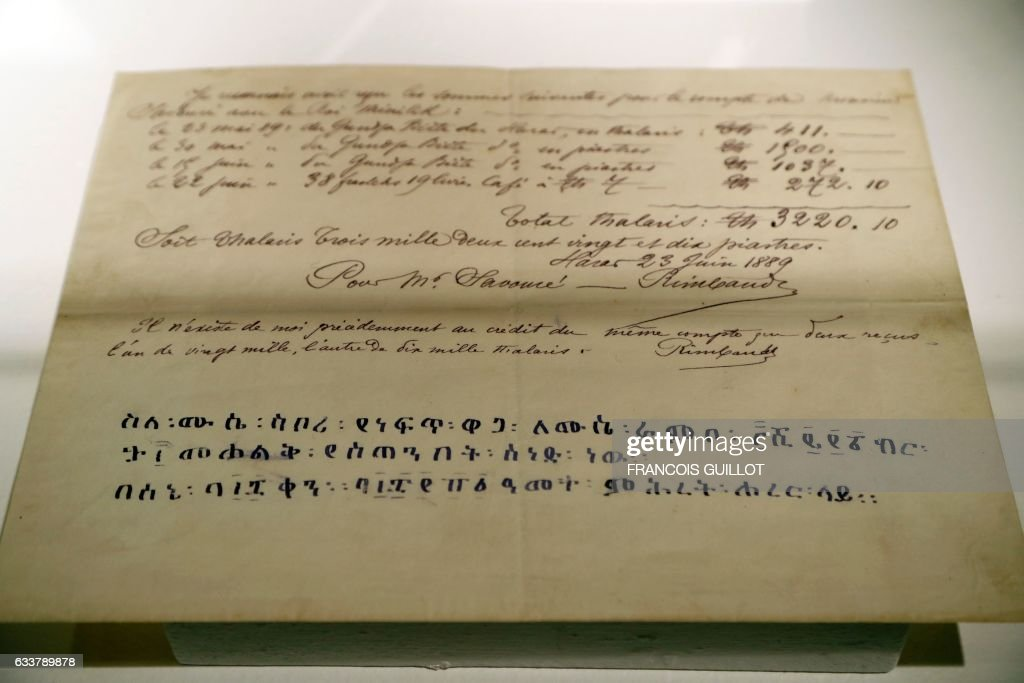 FRANCE-POETRY-DRAWINGS-RIMBAUD : News Photo