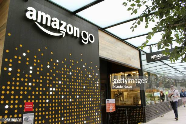Photo taken in September 2018 shows a checkoutfree Amazon Go grocery store in Seattle The store operated by online retailer giant Amazoncom Inc...