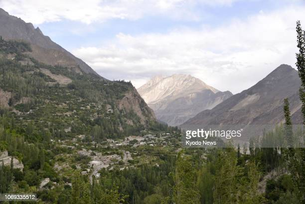Photo taken in September 2018 shows the Hunza Valley in Karimabad northern Pakistan ==Kyodo