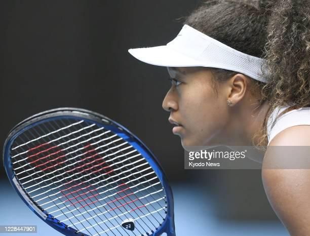 Photo taken Jan 20 shows Naomi Osaka during the Australian Open tennis tournament in Melbourne