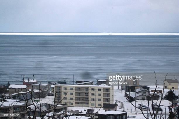Photo taken Jan 31 in Abashiri on Japan's northern main island of Hokkaido shows drift ice on the horizon on the Sea of Okhotsk The ice could be seen...
