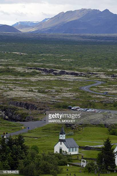 A photo taken July 2006 shows the church of Pingvellir the site of the world's first parliament created 930 AD by the early Viking settlers in the...