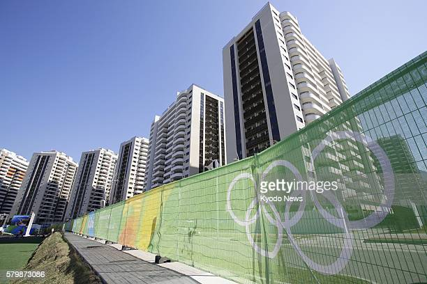 Photo taken July 24 shows the athletes village for the upcoming Rio de Janeiro Olympics that officially opened the same day The 31 buildings have...
