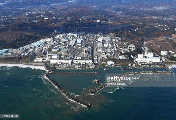 Photo taken Nov 22 from a Kyodo News helicopter shows Fukushima Daiichi nuclear power plant in northeastern Japan The power plant which was...