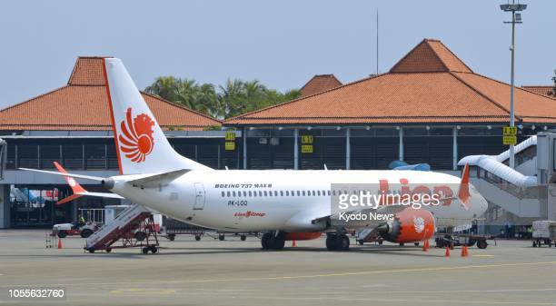 Photo taken Oct 29 shows a Lion Air passenger jet of the Boeing 737 MAX 8 series at Jakarta Airport The same type of aircraft belonging to the...