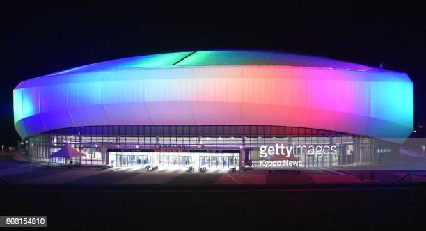 Photo taken Oct 30 2017 shows Gangneung Ice Arena in Gangneung South Korea The facility will be used for figure skating and short track speed skating...