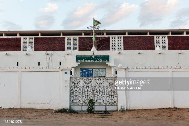 A photo taken on April 1 2019 in Nouakchott shows the Ministry of Justice