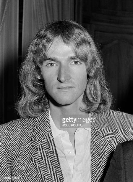 A photo taken on April 11 1984 in Paris shows French climber Patrick Edlinger during a sports awards ceremony in Paris Edlinger one of the pioneers...