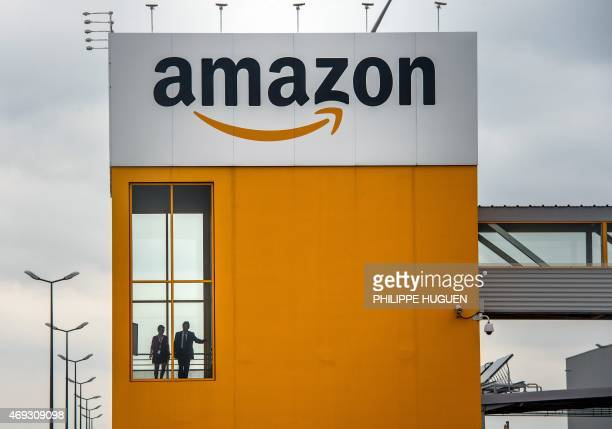 A photo taken on April 11 2015 in LauwinPlanque northern France shows a site of the Amazon electronic commerce company AFP PHOTO PHILIPPE HUGUEN /...